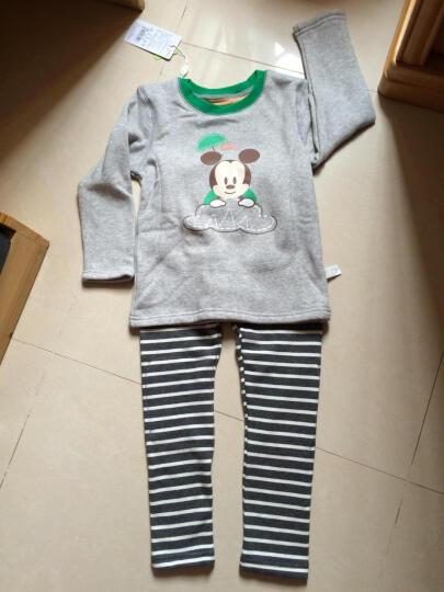 迪士尼宝宝儿童保暖内衣 快乐宝贝加厚加绒暖甲内衣 礼盒装 浅蓝 100cm(2-3岁) 晒单图