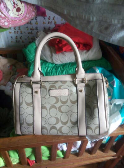 【品牌女包】特斯黛波士顿桶包 枕头包新款包包手提包单肩包斜挎包 卡其-色 晒单图