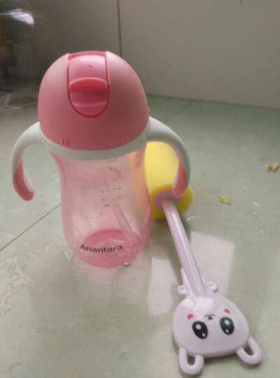 恩诺童 学饮杯儿童吸管杯婴儿水杯 宝宝带手柄防漏鸭嘴杯婴儿饮水杯喝水杯母婴用品 260ML橙色吸管杯(12个月以上) 晒单图