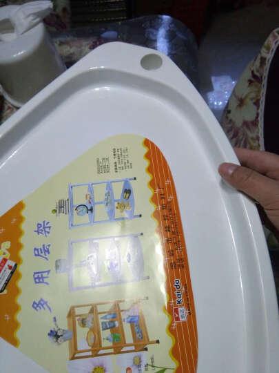 欣颖家具 浴室置物架卫生间脸盆架洗手间储物厕所洗澡收纳架子三角落地厨房 乳白B加大号三角形实板加高 晒单图