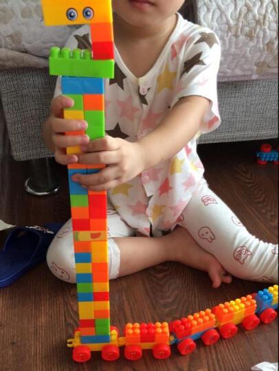 育儿宝 积木玩具儿童拼装拼插大块颗粒塑料1-2-3-6岁小孩宝宝幼儿园益智早教启蒙玩具 240块+收纳盒+组装说明书 晒单图