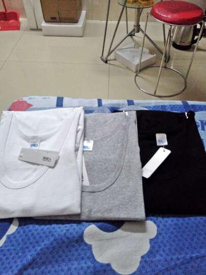 南极人(3件装)男士背心 男女 纯棉紧身吊带螺纹休闲汗衫背心 (女款)黑色+白色+灰色 175/100(XL) 晒单图