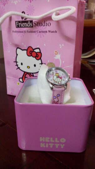 凯蒂猫(hellokitty)儿童手表女孩石英真皮手表指针表小学生时尚女童表 HKFR175-06B 晒单图