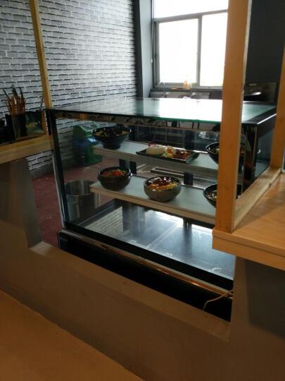 乐创(lecon)商用蛋糕柜冷柜冷藏保鲜柜台式除雾玻璃陈列柜水果饮料寿司熟食柜面包展示柜 白色直角风冷带防雾 后开门1.8米*0.67*1.18(落地式) 晒单图
