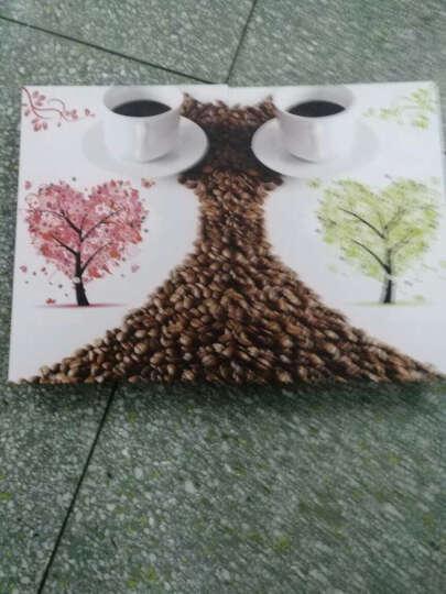 华庭丽娜 餐厅无框画 爱心咖啡两拼家居挂画 墙面装饰画 电表箱画 9MM厚度 35*50CM小餐厅推荐 晒单图