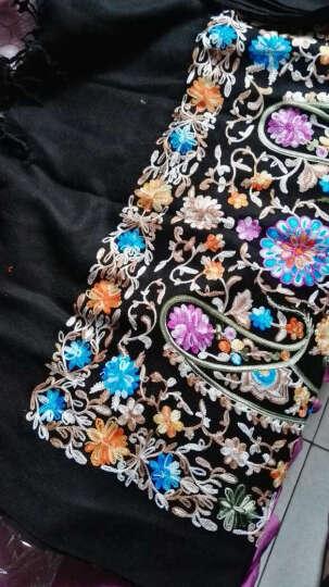 高尼诗刺绣羊毛披肩女四季印度尼泊尔Pashmina刺绣花民族风田园复古围巾 宝蓝碎花 晒单图