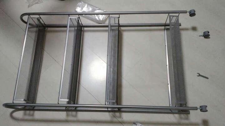 心家宜 铁艺置物架 浴室厨房缝隙收纳层架 可移动夹缝收纳层架GX_5420S 晒单图