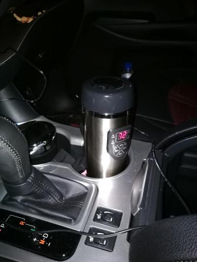 数显温度车载电热杯汽车加热杯水杯烧水杯12V烧烧开热水器24V货车 粉色款 轿车专用 晒单图
