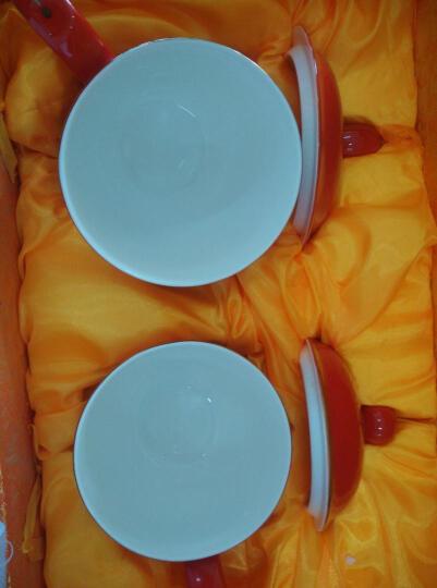 锦唐窑 茶杯陶瓷 中国红瓷龙凤情侣对杯 新婚礼物实用送女友送男友婚庆回赠礼品送新人送闺蜜 红瓷龙凤老板杯贵妃杯对杯 晒单图