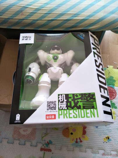 宝贝星(BBS) 机器人玩具智能 新威尔机械战警会跳舞遥控对话机器人男孩儿童益智 机械战警(发射软弹经典白色) 晒单图