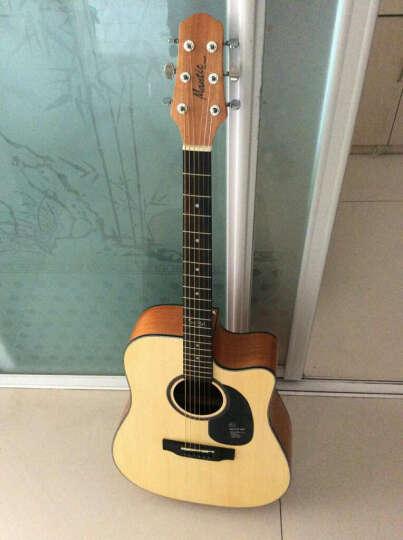 盛听(ShengTing) 曼泰(MANTIC) 曼泰吉他 民谣吉他新手初学40寸41寸jita吉他 AG-620C原木色缺角 41寸 晒单图