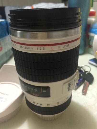 Wrcibor 单反相机镜头造型不锈钢水杯隔热水杯 圣诞节生日礼品创意杯子个性七夕情人礼物 28-135系列防风盖-白色 晒单图