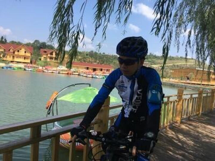 VEOBIKE 春夏季骑行服男士公路自行车骑行装备女士山地单车骑行长袖长裤速干短袖套装 蓝白骑士短袖组合 XXXL 晒单图