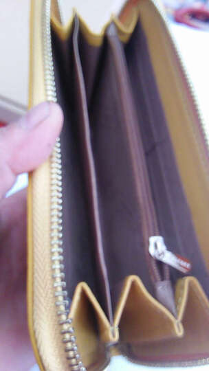 啄木鸟(TUCANO)女式包包 女士钱包长款牛皮 粉色手拿包手抓包大容量 韩版女包 1001浅蓝 晒单图