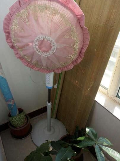 泊远 欧式风扇罩布艺防尘罩风扇套圆形电风扇罩电扇罩 远风 远风-灰蓝 直径50CM 晒单图