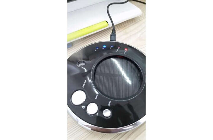 摩赛克UFO-1车载空气净化器汽车用除烟味异味PM2.5甲醛雾霾负离子太阳能家用香薰加湿器 UFO-1--黑色 晒单图