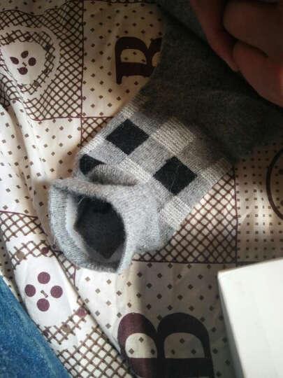 南极人袜子男士秋冬加厚兔羊毛袜女士中筒保暖袜5双礼盒装 女款-蝴蝶结 均码 晒单图