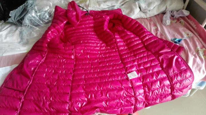 胜雨诗 2017春季新款修身中长款羽绒服女韩版长袖羽绒服 深紫 XL 晒单图