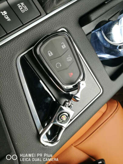 LUCKEASY 凯迪拉克钥匙包XTS ATSL CT6 CTS钥匙壳汽车改装钥匙套 C款黑色带公仔 晒单图