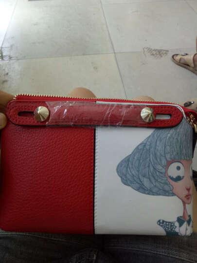 千百惠 女士斜挎包大头妹时尚单肩包女 迷你手提小包包小方包原创女包 红色小号 晒单图
