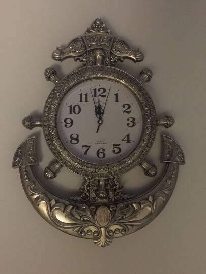 挂钟舵手客厅表欧式壁墙钟时尚仿古艺术复古