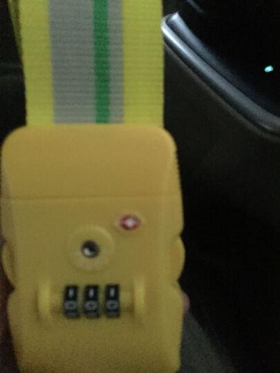 蓝橙lyceem 拉杆箱打包带 TSA密码锁行李箱捆绑带 柠檬黄 晒单图