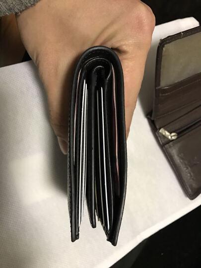 COACH 蔻驰 奢侈品 男士黑色皮质短款对折钱包钱夹 F74974 BLK 晒单图