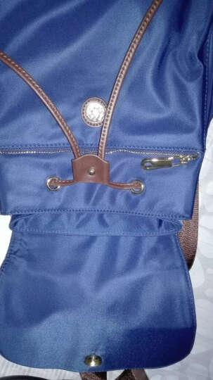 梵镭双肩包女2017新款帆布包女士背包韩版休闲牛津纺包包 黑色 晒单图