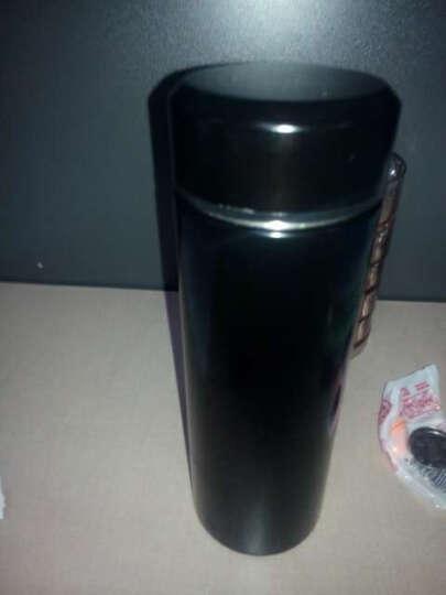FaSoLa双层水杯 不锈钢真空保温杯 男士商务茶杯子 黑色450ml 晒单图