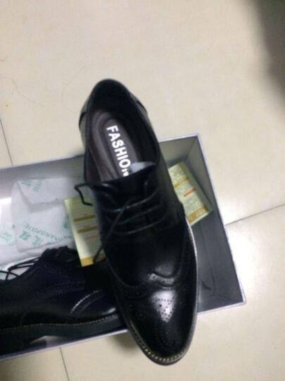 莎美茜 新款男士皮鞋舒适休闲商务鞋韩版布洛克大码正装皮鞋男鞋子11988 黄棕11988 40 晒单图
