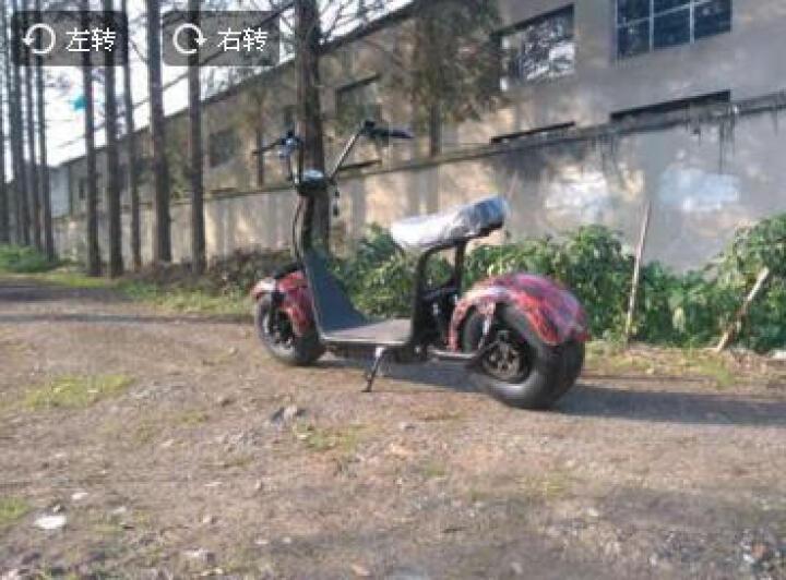 哈雷电动车前后减震两轮宽胎LED大灯踏板车带转向灯尾灯 20A锂电池版 晒单图