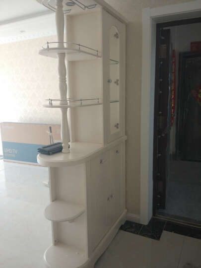 本兰(benland)欧式酒柜屏风隔断柜玄关柜间厅门厅柜鞋柜装饰柜 象牙白/哑光 1.2米 晒单图