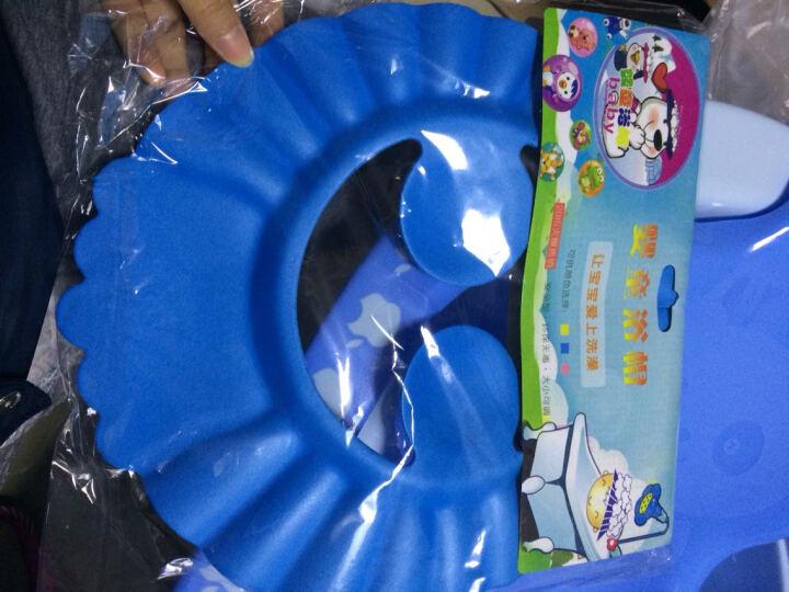良品物语 婴儿洗澡盆新生儿浴盆宝宝沐浴盆儿童浴桶 蓝色浴盆+浴板+T型浴网(送26件) 晒单图