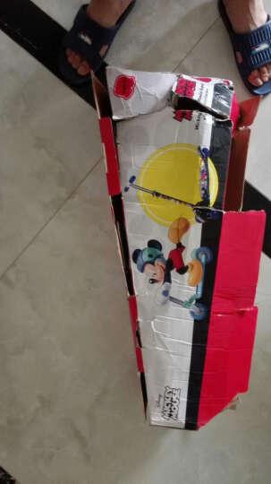 脚踏滑板车 可折叠全铁大四轮爬爬虫滑板车 迷你可折叠自行车 轮滑滑板车 蓝色 70*25*69/75/81CM 晒单图