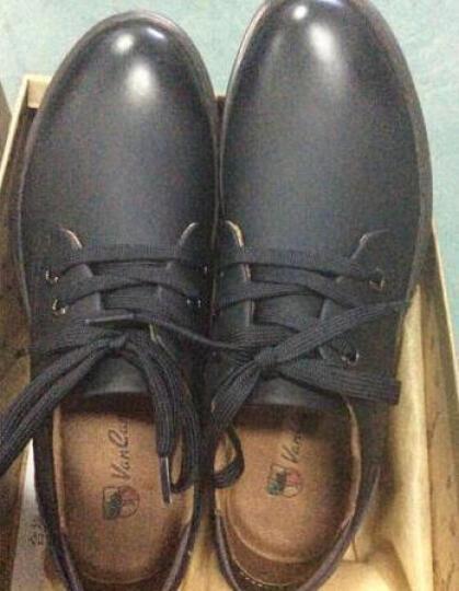 西域骆驼(VANCAMEL)男鞋新款透气男士运动户外类休闲皮鞋 52黑色 41 晒单图