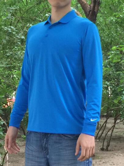 耐克NIKE长袖T恤男 高尔夫服装 男士长袖POLO衫 黑色511349-010 S 晒单图