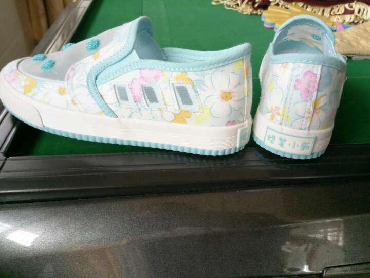 蜡笔小新童鞋儿童运动鞋夏季新款学生板鞋男童女童网鞋 白红 36码/内长约22CM 晒单图