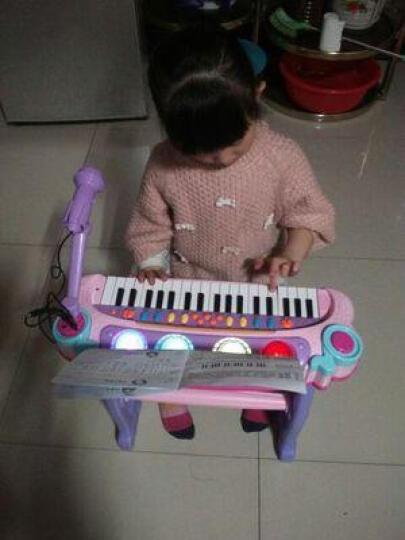 烨星(YEXING)儿童电子琴带麦克风玩具女孩玩具婴幼儿早教音乐小孩宝宝钢琴礼物 第八代彩盒豪华版粉+椅子+琴谱+麦克风+神秘礼物 晒单图