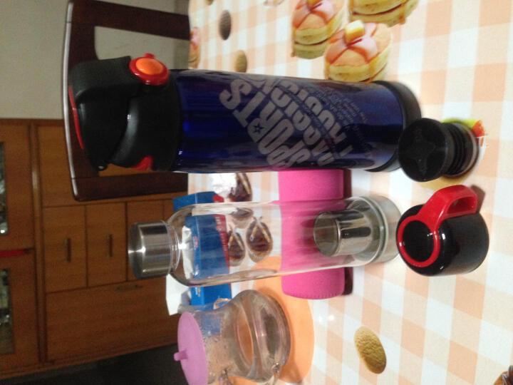 苏兹 车载不锈钢保温杯大容量水瓶旅行便携健身自行车户外运动水壶 深红色 晒单图