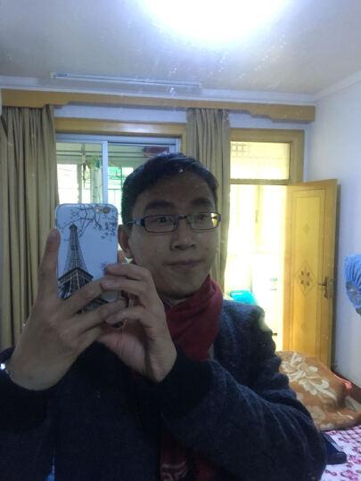 帛拉拉韩版围巾都敏俊几何斜纹毛线男士 来自星星的你都教授同款黑白红围巾 都敏俊蓝色 190*40cm 晒单图