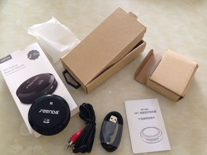 seenDa 蓝牙音频接收器适配器转换器无线蓝牙音箱接收器有线音响 白色 晒单图