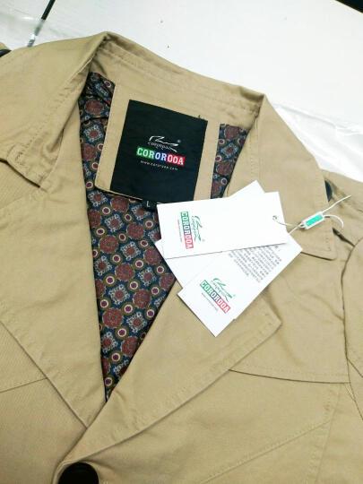 COROROOA 夹克男士外套 纯棉男装韩版修身新款休闲上衣服 深卡其 XL/175 晒单图