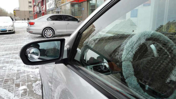 舜安特 玻璃无边汽车后视镜小圆镜倒车小圆镜盲点广角镜 车用小反光镜 大视野盲区镜倒车辅助镜 Y003圆形黑色(对装) 晒单图