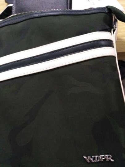 WDPR单肩包男包撞色休闲斜挎包男士包包时尚竖款背包帆布包潮 迷彩绿丨三件套 晒单图
