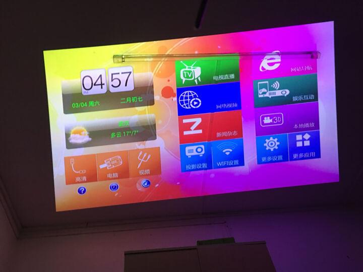 zeco 智歌()CX3投影仪家用 高清影院微投 智能3D 家庭投影电视 微型办公投影机 移动便携套餐 晒单图