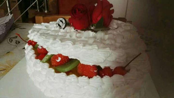 奢上 全国同城配送鲜花生日蛋糕祝寿巧克力水果蛋糕速递上海东莞广州天津深圳南京郑州武汉福州长沙重庆北京 J款19朵香槟玫瑰礼盒+蛋糕 18英寸 晒单图