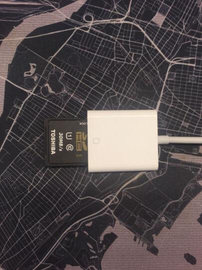颖果 苹果手机读卡器otg iphone内存扩展扩容 ipad外置转接数据线单反sd卡tf 白色(苹果-lightning接口) 晒单图