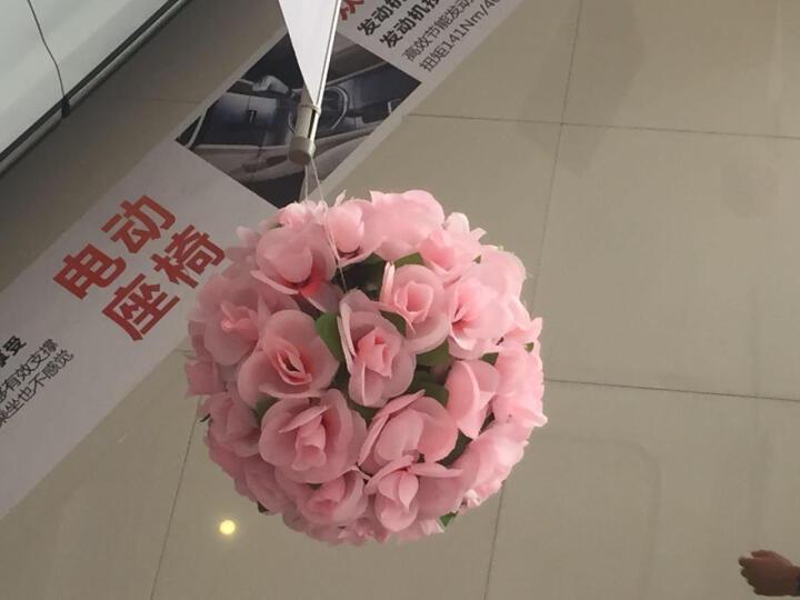 如一花开 加密玫瑰仿真花球工程装饰花艺塑料假花婚庆酒店商场布置挂饰吊顶 粉色25厘米 晒单图