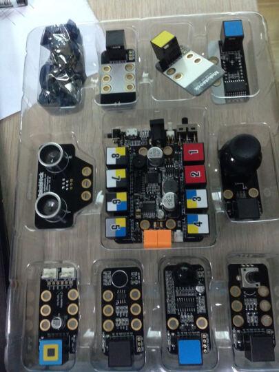 MAKEBLOCK Inventor电子模块套件 超声波/光度/声音/蓝牙/红外传感器模块 晒单图