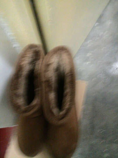 雪地靴女 靴子女鞋中长筒经典大码户外保暖加绒情侣款冬季新款老人棉鞋妈妈鞋6686 黑色 37 晒单图